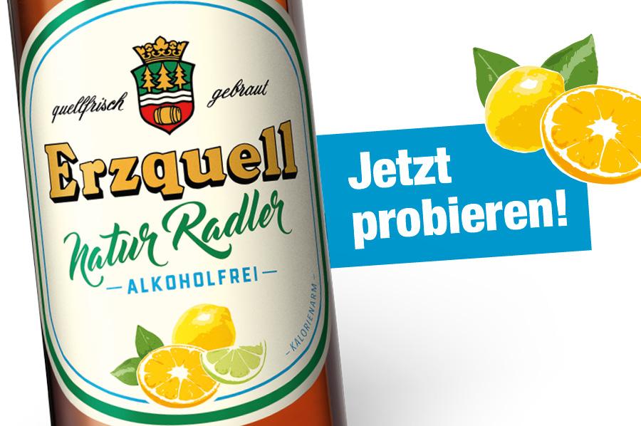 Jetzt neu: Erzquell Natur Radler Alkoholfrei